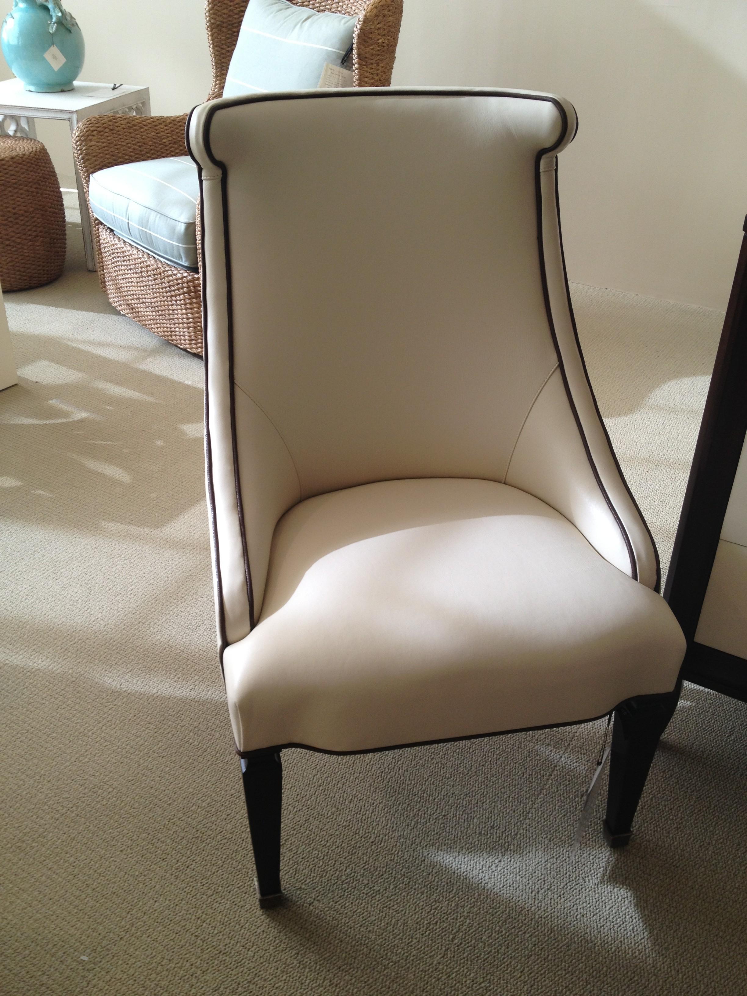 Leather Trim Chair 2