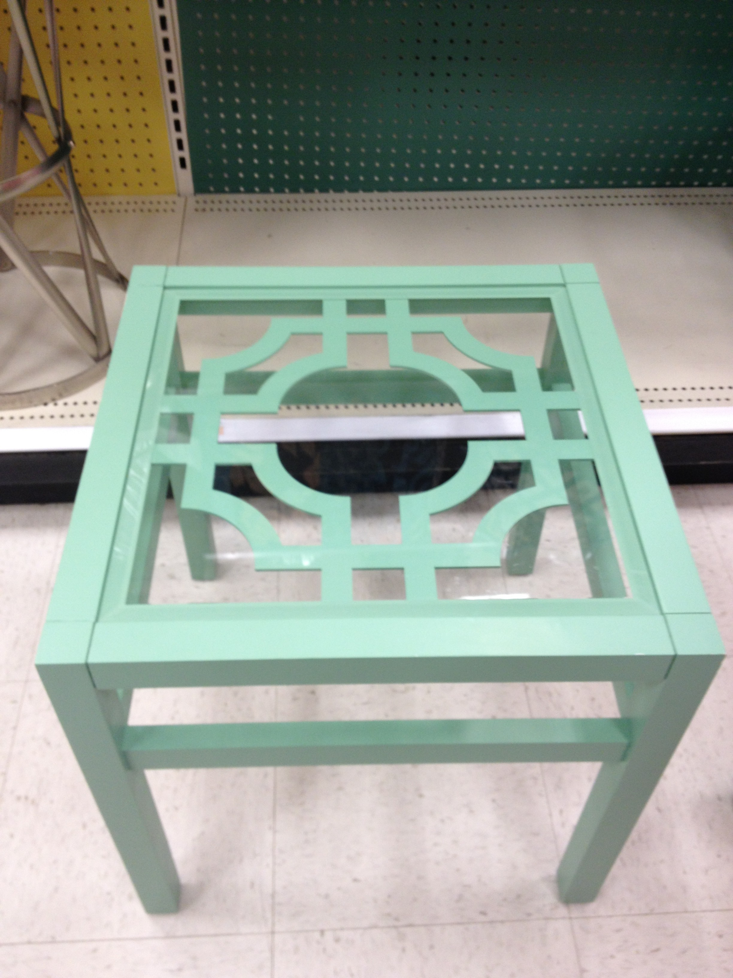Green Lattice Top Accent Table-Target