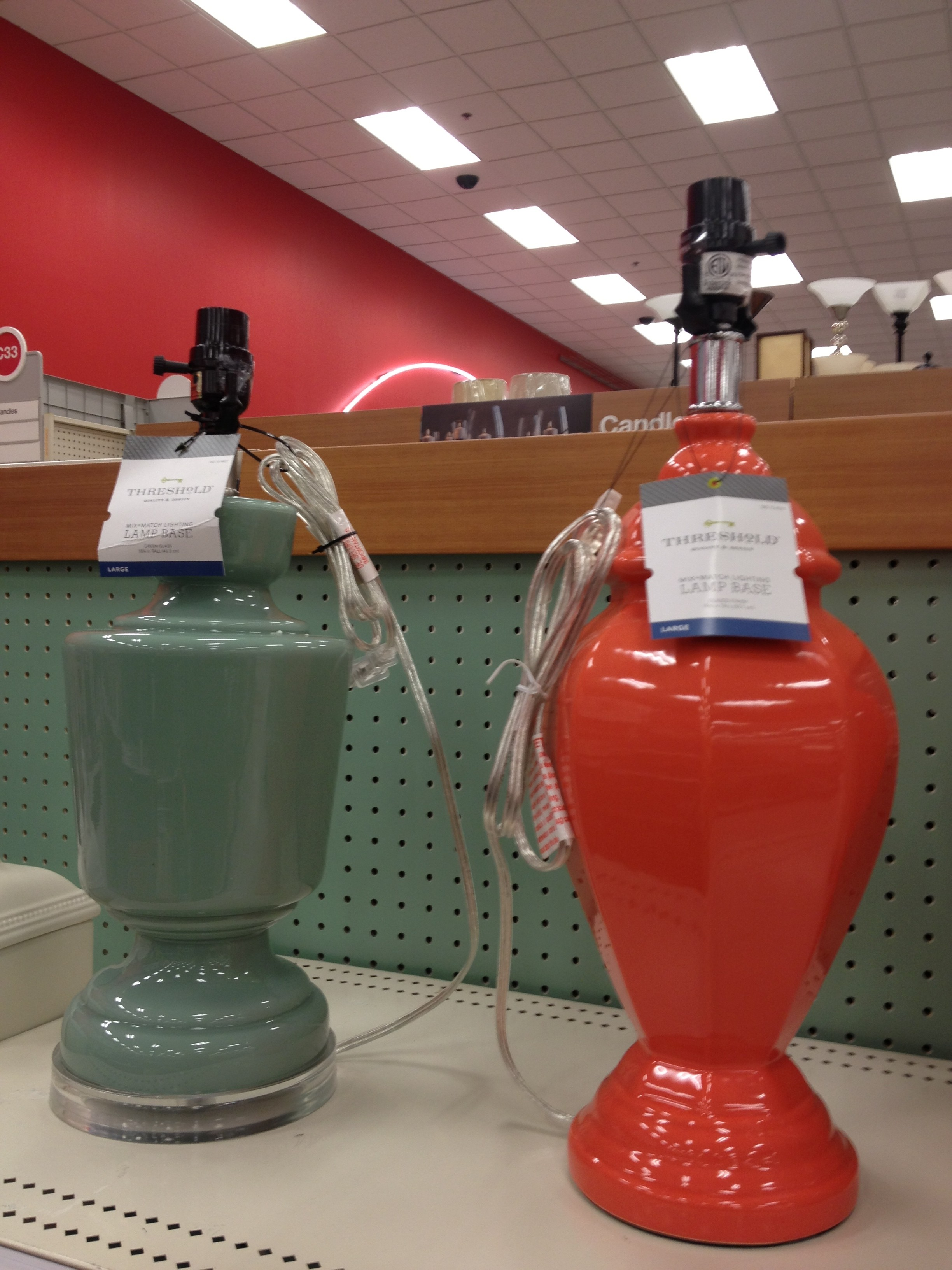 Green and Orange Table Bases - Target