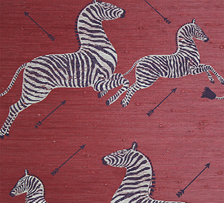Zebras on Red, Photo Courtesy of Scalamandre