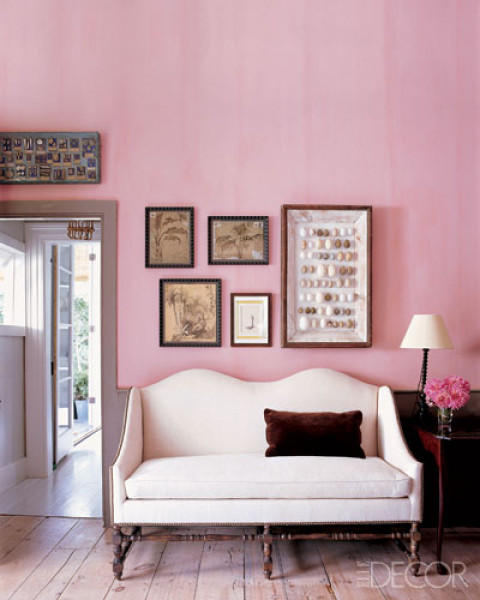 Pink Room by Steven Gambrel, Elle Decor