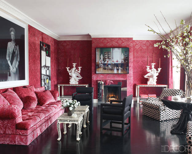 Pink Room by Thomas Britt, Elle Decor